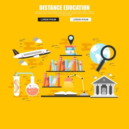Flat concept set of online education
