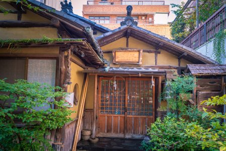 Photo for Tokyo. Japan. Old japanese hut. Traditional japanese house. Tokyo residents house. Architecture. Japanese buildings in the old style. Walking in Tokyo. Vacations in Japan. Japan vintage. - Royalty Free Image