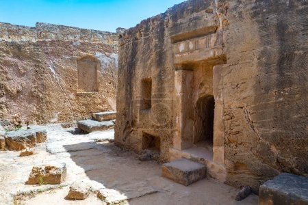Photo for Cyprus. Paphos. Open Air Museum in Paphos. The ancient city in Cyprus. Traveling through the ancient ruins. Archaeological site in Cyprus. Island in the Mediterranean Sea. Historical Tours. - Royalty Free Image