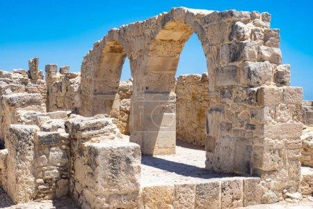 Photo for Cyprus. Limassol. Curion. Ruins of an ancient city on the Mediterranean coast. Fragments of an early Christian Basilica. Monument to the history of Cyprus. Archaeological park. Travel to Cyprus. - Royalty Free Image