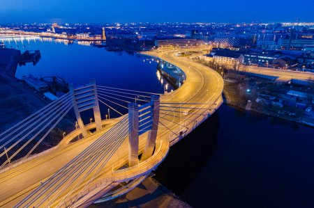 Evening Saint Petersburg  from a bird's-eye view. Rivers Of St.