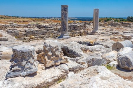 Photo for Cyprus. Pathos. Archaeological park. The ruins of an ancient city. Museums in Cyprus. Excavations of the ancient city. Tour in Cyprus. Ancient Mediterranean city. Excursions in Paphos. - Royalty Free Image
