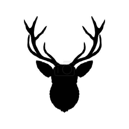 tête de cerf monochrome