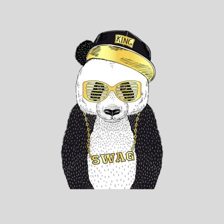 panda in swag style