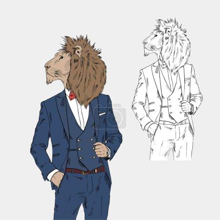 lion homme dans un style chic