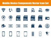 Mobile Device Components Icon Set