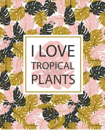 Exotic leaves, rainforest.
