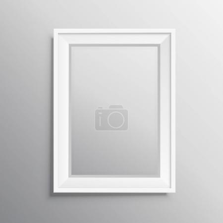realisitc photo frame mockup display