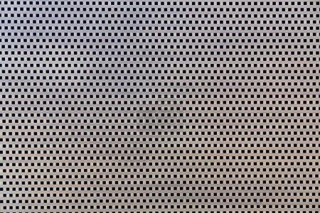 Foto de Línea de pelo de oro inoxidable expandida con agujero de rectángulo negro / textura sin costuras / material interior. - Imagen libre de derechos