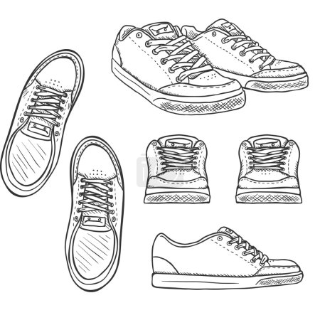 Set of Sketch Skaters Shoes.
