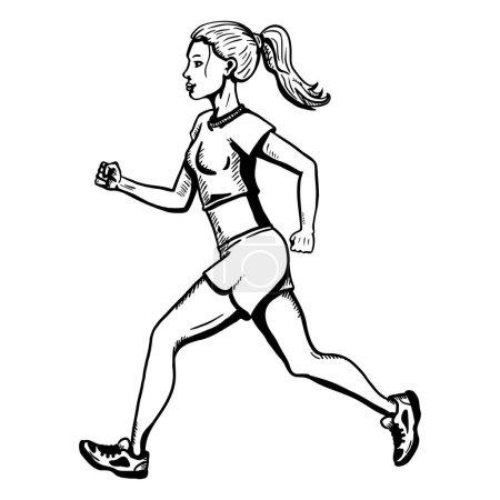 Jogging Young Woman.