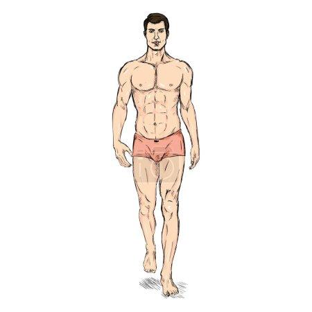 Male Model in Underwear