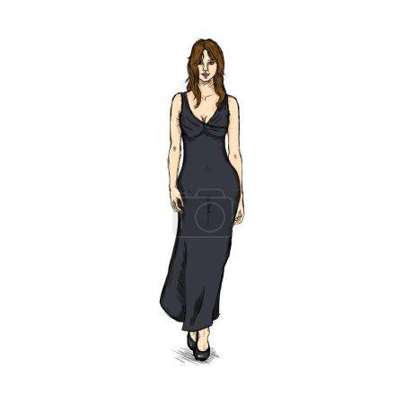 Female Model in Dress