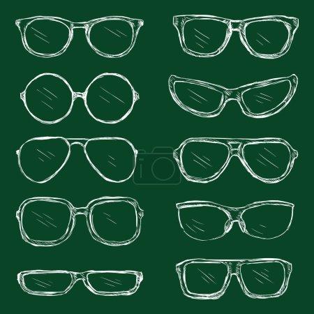 Set of Chalk Eyeglasses