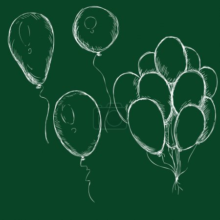 Set of Chalk Balloons