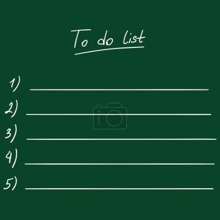 Chalk To Do List