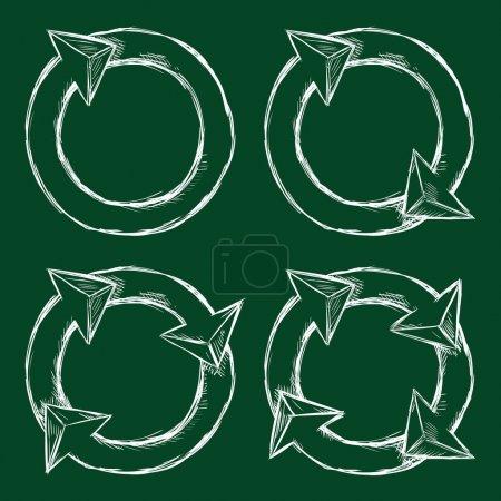 Sketch Circle Arrows