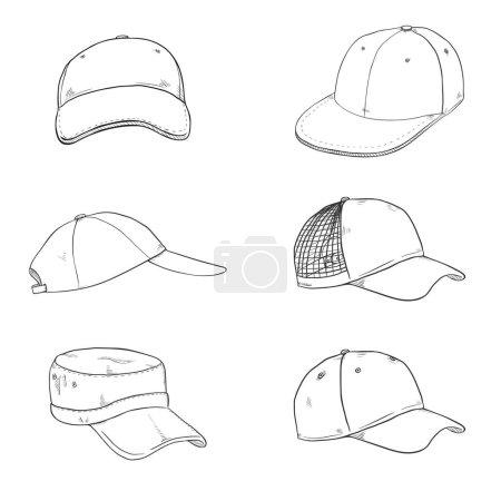 Sketch Baseball Caps