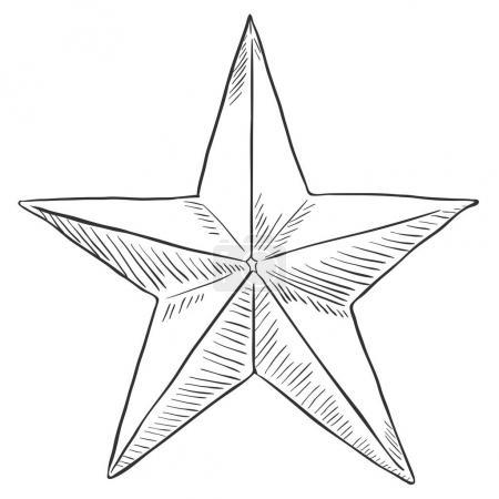 sketch star shape
