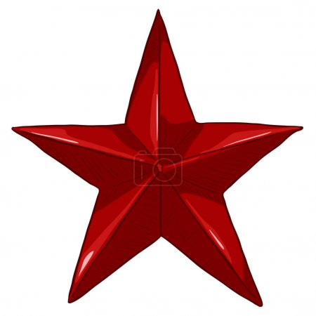 cartoon red star