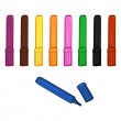 Vector Set of Colorful Felt-tip Pens isolated on w...