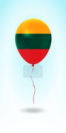 Photo pour Lituanie ballon avec flag.Ballon dans le pays Couleurs nationales. Drapeau national Ballon en caoutchouc. Illustration vectorielle. - image libre de droit