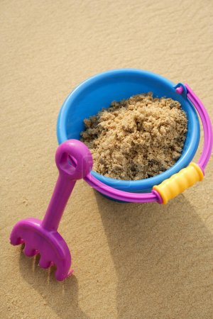Beach Bucket filled with sand