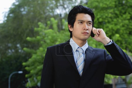 man wearing suit
