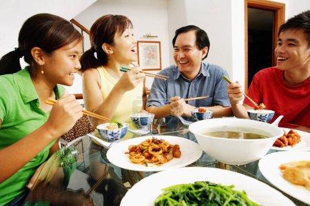 Happy Family on dinner