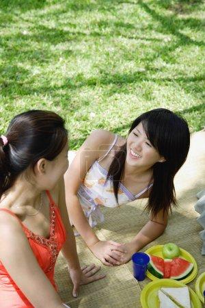 Women having a picnic