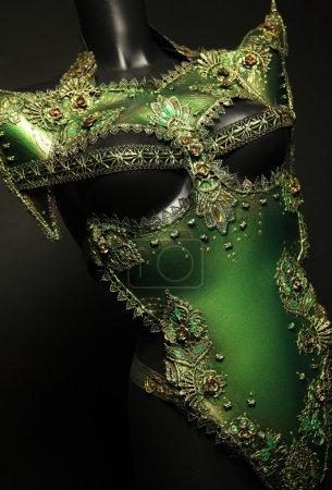Creative female green costume