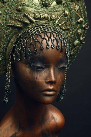 female statue in head decoration