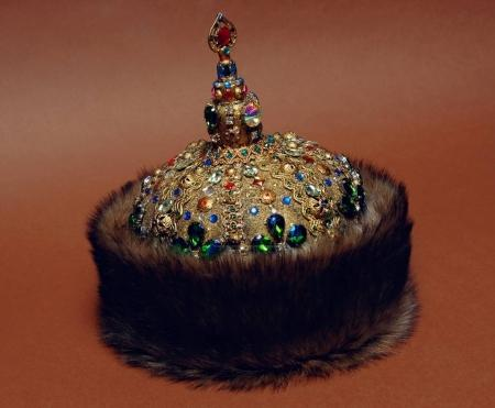 Fur rich historical headwear.