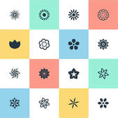 Vector Illustration Set Of Simple Rose Icons Elements Lilac Laurel Pattern And Other Synonyms Sword Lily Daffodils And Delphinium
