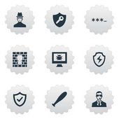 Elements Virus Under Protection Conservation And Other Synonyms Approve Okay And Protection  Vector Illustration Set Of Simple Safety Icons