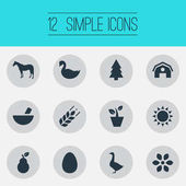 Poster Vector Illustration Set Of Simple
