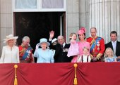 Queen Elizabeth & Royal Family, Buckingham Palace, London June 2017- Prince William, George, Philip, Charles, Charlotte, kate & Camilla, Trooping the Colour Balcony for Queen Elizabeth's Birthday June 17, 2017 London, UK