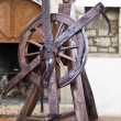 Wheel of torture in an old castle used to the times of the Inquisition