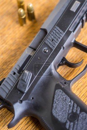 bullets and handgun