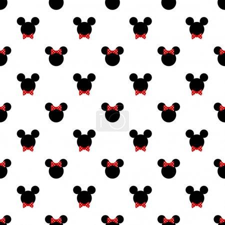 Modèle sans couture avec symbole de mickey mouse