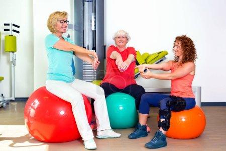 happy women in gym