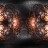 "Постер, картина, фотообои ""3d визуализация пластикового фона с тиснением фрактала на леате"""