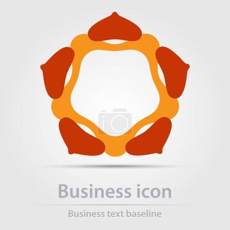 Původně vytvořená barevná abstraktní obchodní ikona pro kreativní návrhové úlohy