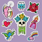 Cartoon Tattoo Stickers Set