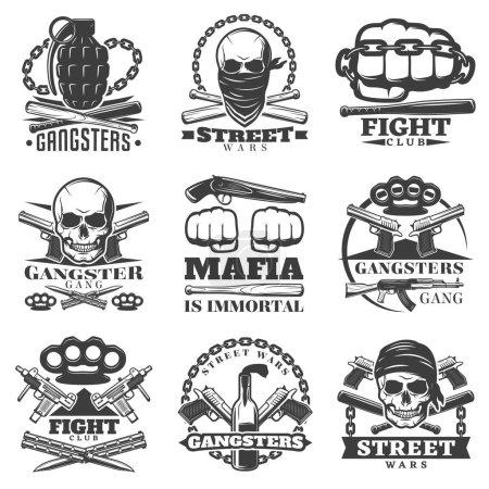 Эмблема Уличные Бандитские Войны Комплект
