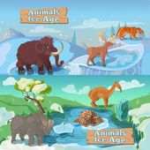 Beasts Ice Age Horizontal Banners