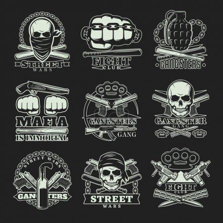 Темные Бандитские Эмблемы Набор