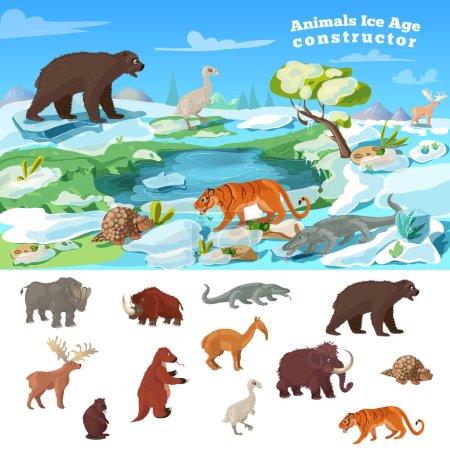 Tiere Eiszeit Konzept