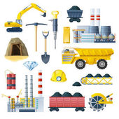 Mining Industry Icon Set