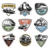 Public And Emergency Transport Logos Set
